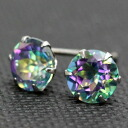 Platinum 900 melody Usu topaz 5.0mm pierced earrings