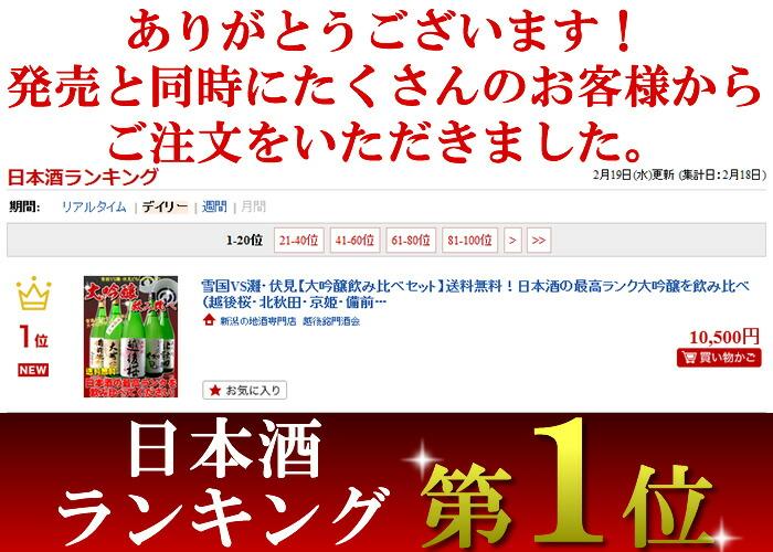 日本酒ランキング1位