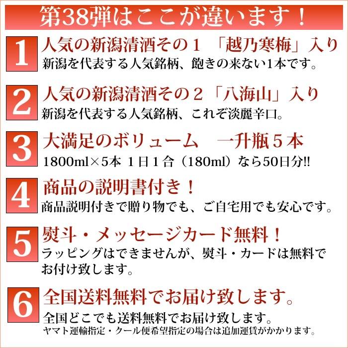 日本酒 38弾セット ポイント
