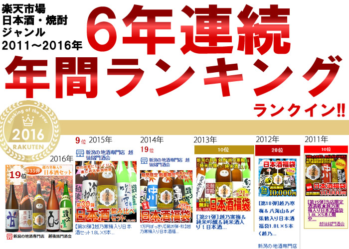 日本酒・焼酎ランキング2016ランクイン