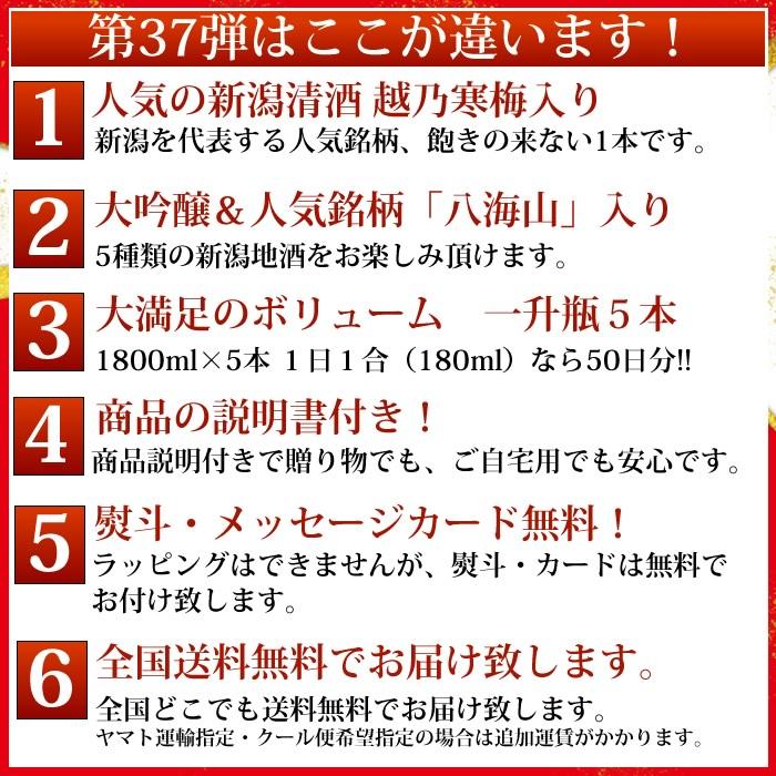 日本酒セット 第37弾ポイント