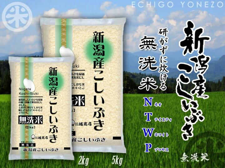新潟米こしいぶき 無洗米イメージa