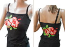 Shoulderstrap fitness tops * hibiscus large size