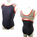 Junior * デザインノースリーブレオタード * NEW! Celeb animals 120 / 130 / [children's Leotard kids junior sleeveless sleeveless open cot glossy rhythmic gymnastics practice for Japan-]