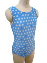 Made in Japan ノースリーブレオタード * dog & dot 120 / 130 cm [children's Leotard kids junior sleeveless オペコット gloss rhythmic gymnastics practice]