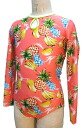 Long sleeved Leotard * tropical * salmon-click the Leotard-adult child