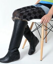 Faux leather case skin fur long boots ★ insoles leg effect legs