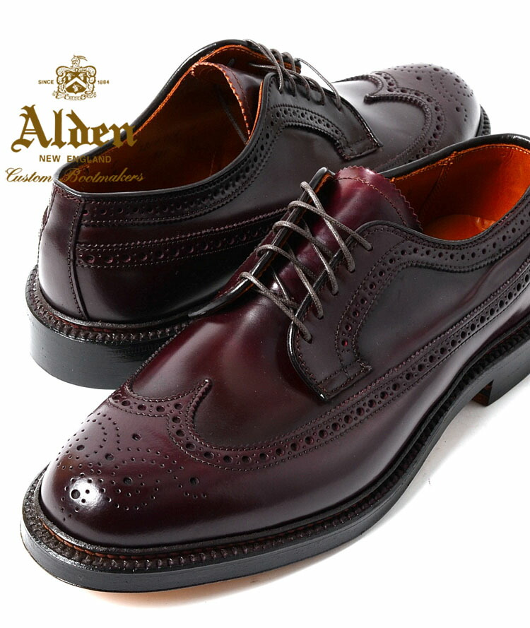 74 Alden Longwing Tip 975 Dark Burgundy