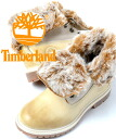 Timberland AUTHENTIC FUAX FUR FOLD DOWN WHITE/BEIGE Timberland authentic forerunner fur fold down white / beige women's boots
