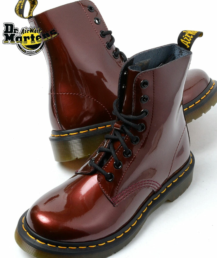 Cherry Red Dr. Martens Pascal Boots