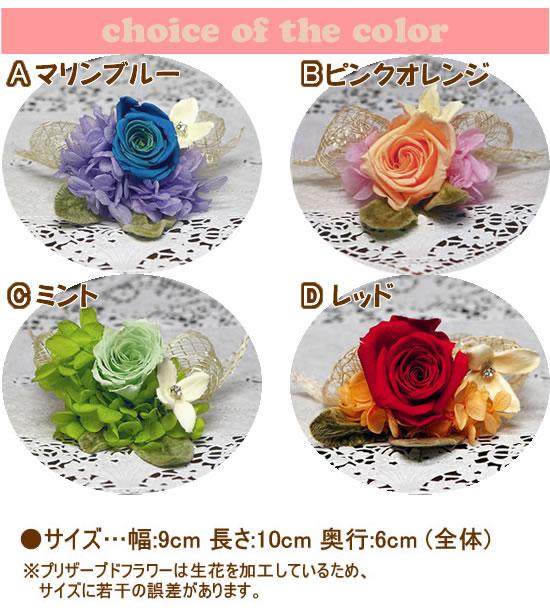 選べるプリザーブドフラワーカラー(4色)