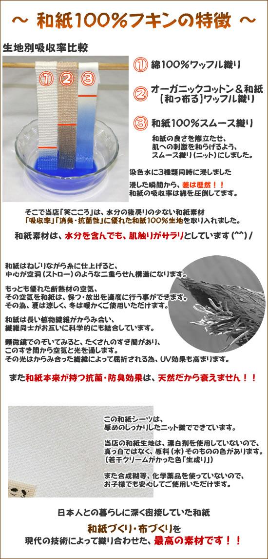 【和っ布る(和紙100%)】ふきん特徴