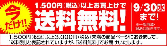 今だけ!!1500円(税込)以上のお買い物で送料無料!!