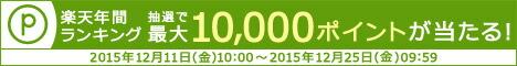2015年度 年間ランキング対象ショップ限定!抽選で総額100万ポイントプレゼントキャンペーン