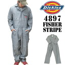 4897 48977 Dickies dickies long sleeves filler long sleeves filler Fischer stripe filler filler DELUXE COVERALL FISHER STRIPE 10P13oct13_b