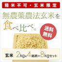 25 yearly output ※ 極撰米無農薬栽培 sets! (2 kg of *4 brand unpolished rice )02P30Nov13)