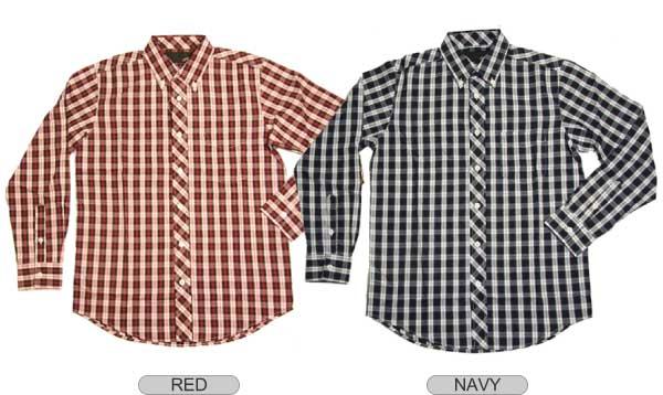 长袖格子衬衫
