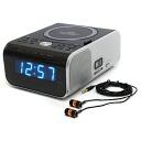 radio alarm clock cd player alarm cd clock radio earphone. Black Bedroom Furniture Sets. Home Design Ideas