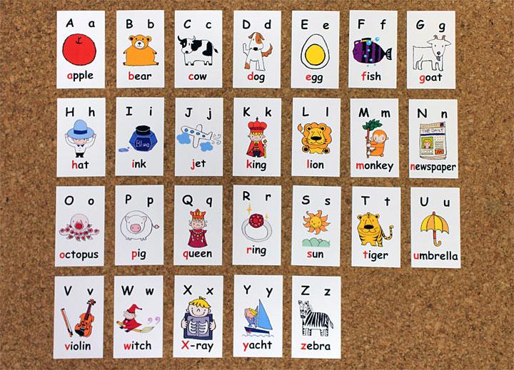 英語絵カード アルファベット ...