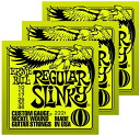 * From 12/30 1/3 ships off * ERNiE BALL (Ernie Ball) electric guitar strings 2221 Regular Slinky's 3 set deals (レギュラースリンキー)