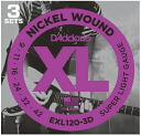 Beginners recommended D ' Addario (D'Addario) electric guitar string set 3 Pack EXL120-3D 09-42