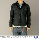 ★ US type C. P. O. jacket ★ (Melton / black / gray / coat / military / army / army / work shirt /CPO shirt) 9678