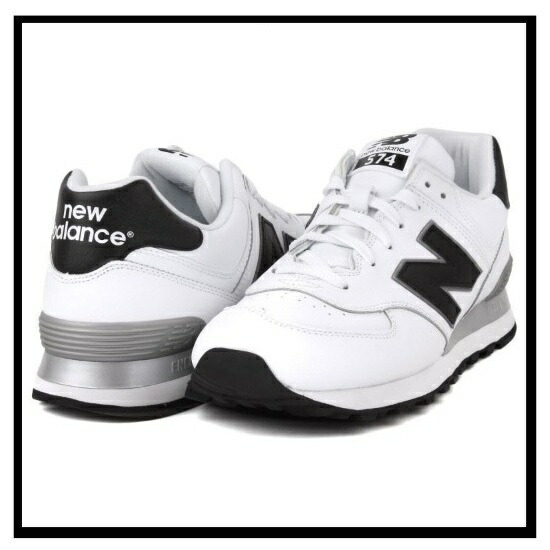 new balance leather 574 white