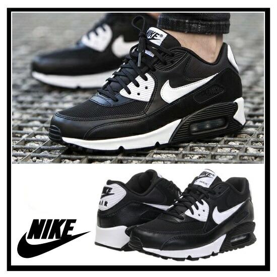 nike air max 90 essential black white