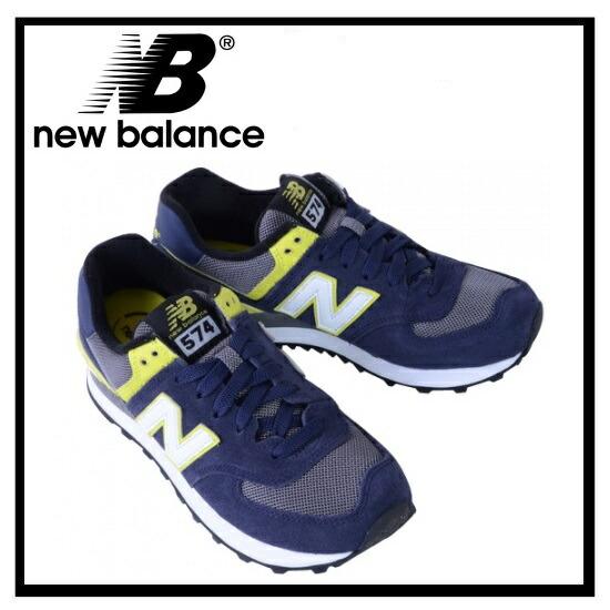 new balance 574 navy yellow