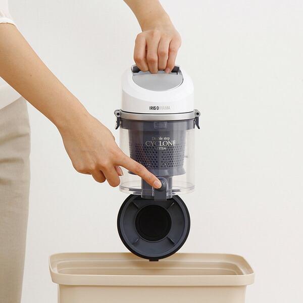 アイリスオーヤマ サイクロンクリーナー コンパクト 低騒音タイプ IC-C100K-S シルバー
