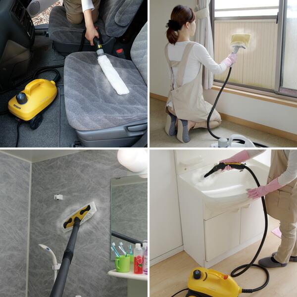 アイリスオーヤマ スチームクリーナー STM-410N 掃除シーン
