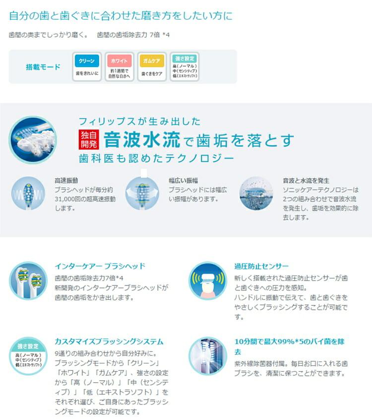 ソニッケアー 電動歯ブラシ
