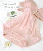 hemme lace shorts-Silk smooth-