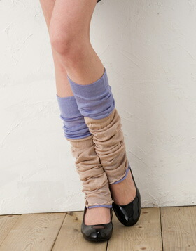 Two pieces of silk leg warmer stacks