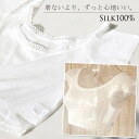 ◎The silk Tulle sweat cloth inner half top