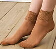 Crew length socks stockings type with silk