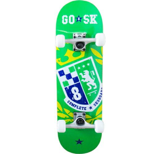 ゴ―スケート(GOSK8) コンプリート ショート スケボー グリーンイエロー GOSK8-28X