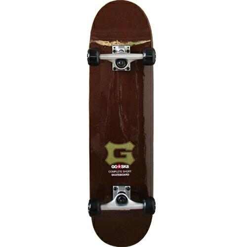 ゴ―スケート(GOSK8) コンプリート ショート スケボー ブラウン GOSK8-31R