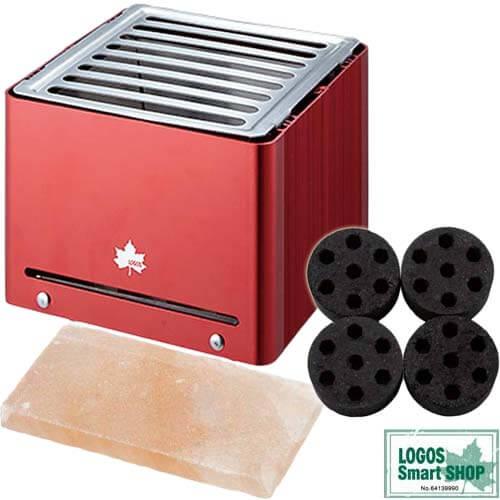 ロゴス(LOGOS) グリルキューブ 81062800+ミニラウンドストーブ 4+岩塩 プレート 特別3点セット!R14AE001
