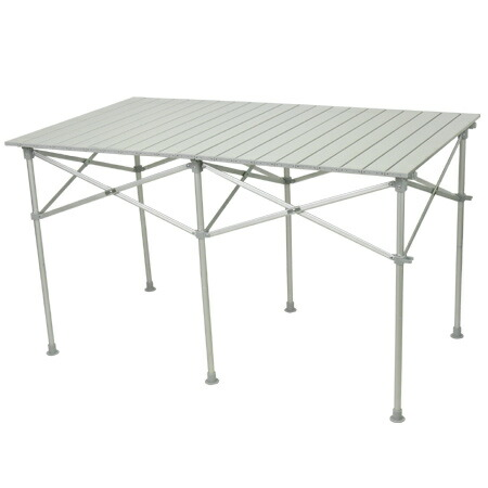折りたたみ アルミロールテーブル 123×70cm アウトドア テーブル 高さ調節 ALRT-001
