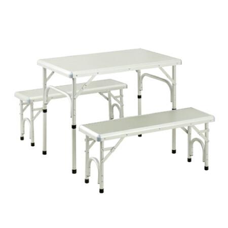 折りたたみ テーブルセット チェア付き アウトドア アルミピクニックテーブル 80×50cm ALMP-80