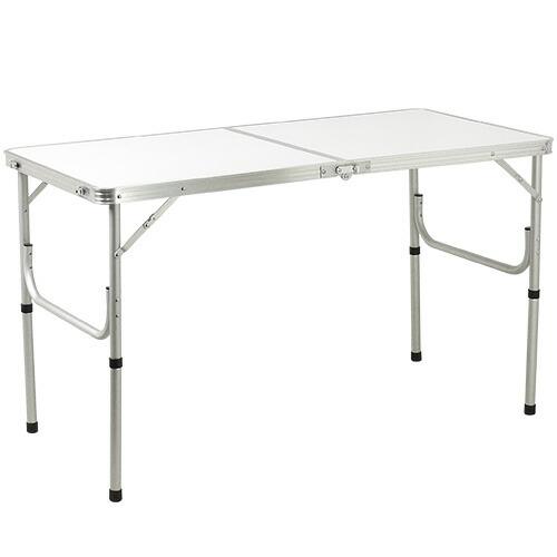 折りたたみ テーブル 120×60cm アウトドア イベント用 ホワイト AL2FT-120