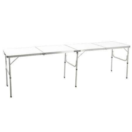 折りたたみ ロングテーブル 240×60cm 長机 ホワイト AL4FT-240