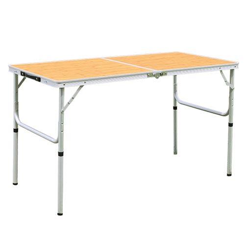 折りたたみ テーブル 120×60cm アウトドア イベント用 バンブー AL2FT-120