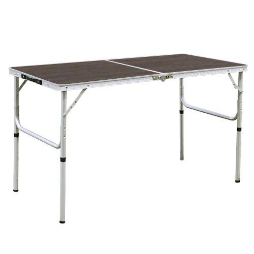 折りたたみ テーブル 120×60cm アウトドア イベント用 モダンブラウン AL2FT-120