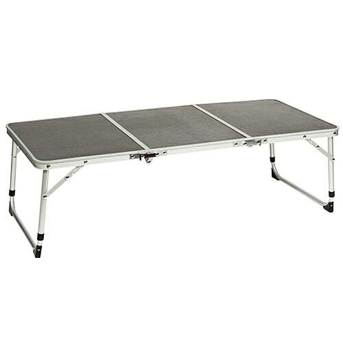 折りたたみ アルミミニテーブル グレー 90×40cm ピクニックテーブル QC-3FT90