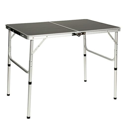 折りたたみ テーブル 90×60cm アウトドア イベント用  モダンブラウン AL2FT-90