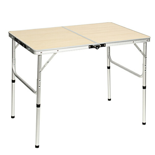 折りたたみ テーブル 90×60cm アウトドア イベント用  ナチュラル AL2FT-90