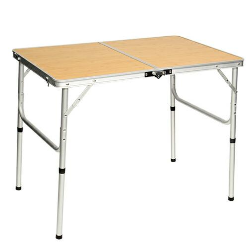 折りたたみ テーブル 90×60cm アウトドア イベント用  バンブー AL2FT-90