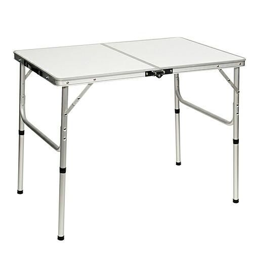 折りたたみ テーブル 90×60cm アウトドア イベント用  ホワイト AL2FT-90